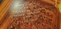 Lenny Dykstra Autographed 16x20 Photo Inscription Trying to Recover French Whore House GOLD Cl...jpg